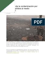 Cómo Afecta La Contaminación Por Residuos Sólidos Al Medio Ambiente