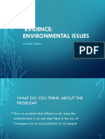 Evidence Environmental Issues Will