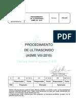 Tsg 557 Procedimiento de Ultrasonido Asme Viii-2010 Rev A