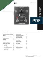 Tc Ditto x2 Looper Manual Spanish