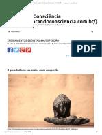 Ensinamentos Budistas #Autoperdão - Brotando Consciência