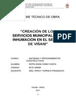 Informe Técnico de Obra