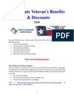 Vet State Benefits & Discounts - TX 2018