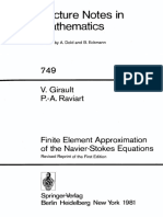Lecture Notes in Mathematics 749 Vivette Girault Pierre Arnaud Raviart Auth. Finite Element Approximation of the Navier Stokes Equations Springer Verlag Berlin Heidelberg 1979