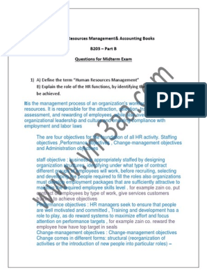 Human Resources Management& Accounting Books B203 – Part B