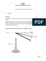 Physics - Transfer of Thermal Energy