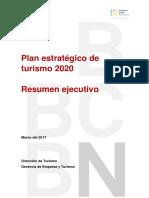 Plan Estratégico de turismo 2020 Resumen ejecutivo