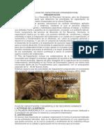 Metodologia de Capacitacion Organizacional