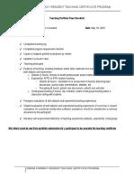 2017 teaching portfolio final checklist