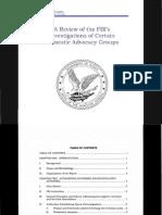 FBI Advocacy Group Report