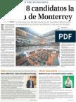 30-04-18 Buscan 8 candidatos la  alcaldía de Monterrey