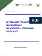Panama Metodologia Necesidades Capacitacion