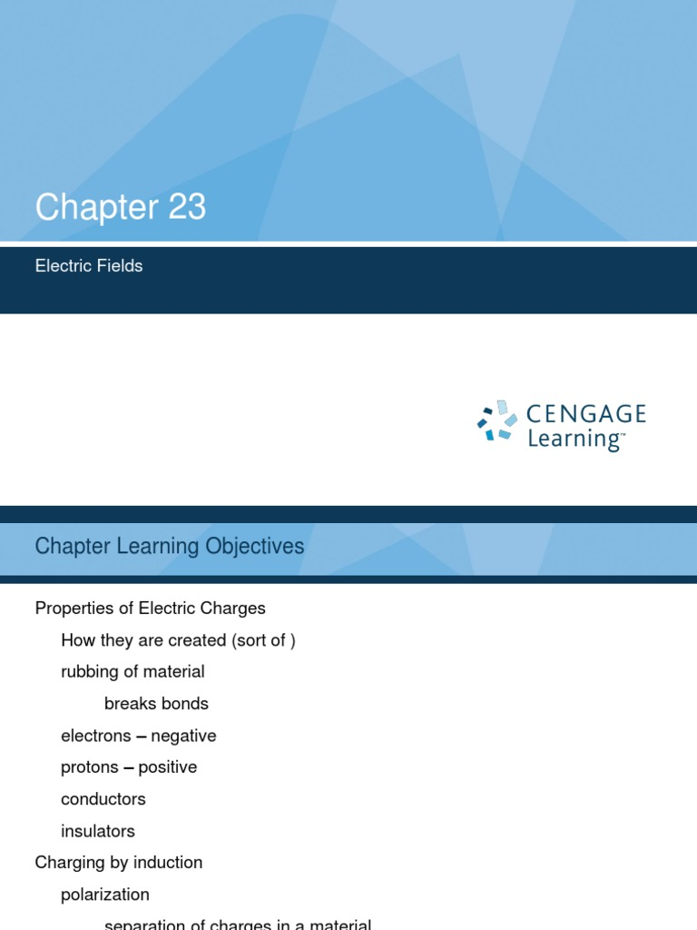 Chapter 23 Slides 1 Electric Charge Field Electrostatic Detector Electroscope