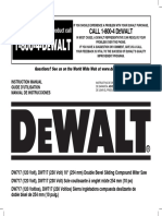 Dewalt 717 Miter Saw Owner's Manual