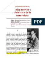 Fisica Teorica y Dialectica de La Naturaleza Shoichi Sakata