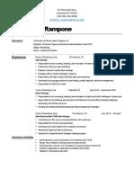 rampone anthony resume