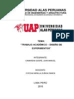 Diseño de Experimentos - Inferencia Estadistica
