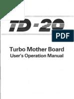 TD 20 Manual