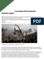 Barcelona retira la estatua del esclavista Antonio López