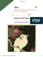 Japanese Print Sizes - Artelino