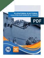 Plataforma Electoral 2018 Por Morelos Al Frente