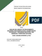 Tesis Seguridad Industrial Depósitos Aduaneros Bolivia