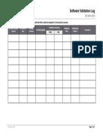 12 Software Validation Log.docx