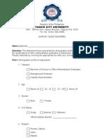 Survey Form 2003