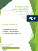 Habilidades Del Administrador Habilidades Administrativas(1)