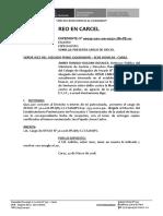 Presenta Cargo de Oficio Josue Jara Pajuelo