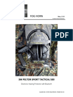 3M PELTOR SPORT TACTICAL 500 Hearing Protection