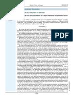 Ley 3-2018 Creación Colegio Profesional Periodistas Aragón