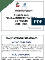 Proposta de Planejamento Estratégico PPGINDE