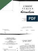 Guillaume de Vries - La Theologie Sacramentaire Chez Les Syriens Orientaux