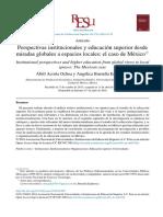 Institucionalismo y Educación Superior en México_ANUIES