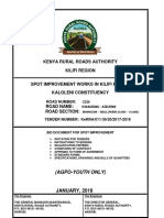 Kaloleni Constituency Tender Document