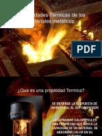 Propiedades Térmicas de Los Materiales Metálicos