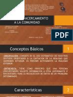 Diapositivas - Tecnicas de Acercamiento a La Comunidad
