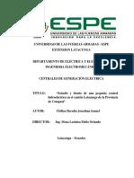 Estudio y diseño de una pequeña central hidroeléctrica en el cantón Latacunga de la Provincia de Cotopaxi.pdf