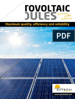 Zytech Solar Modules Catalogue