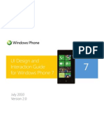 UI Design and Interaction Guide for Windows Phone 7 v2.0