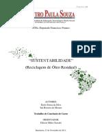 ETEC - Sustentabilidade, Reciclagem de Óleo Residual.pdf