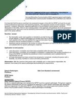 Augmentative and Alternative Communication Appraisal