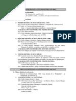 Relaciones Internacionales 1870-1914 - Cronología