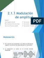2.1.1 Modulación de Amplitud