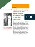 Indian Film Pioneer Vijaya Mulay Looks Back on Her Career