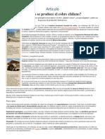 Articulo Cobre en Chile