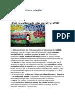 Diferencia Entre Mural y Graffiti