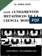 Burtt Edwin Arthur - Los Fundamentos Metafisicos de La Ciencia Moderna