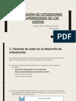 Preparación de Cotizaciones y Recuperaciones de Los Costos